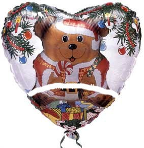 Folienballon INSIDERS (K) 'Holiday Bear', ca. 91 cm Ø