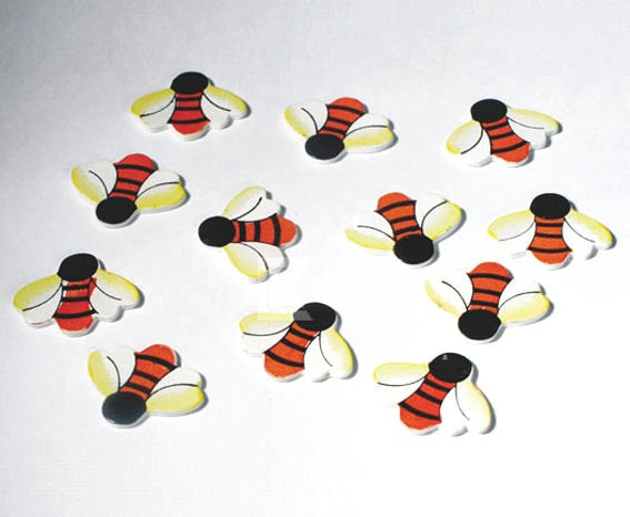 'Biene / Bee' Streuartikel, Holz, 12er-Pack.