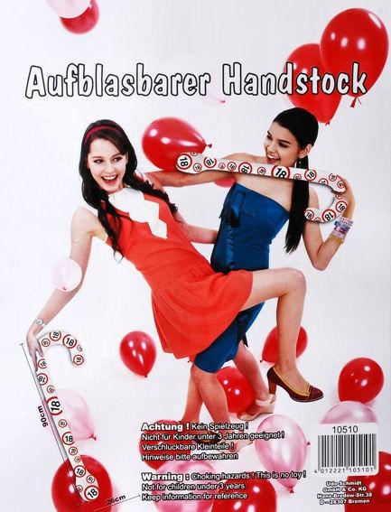 'Verkehrszeichen - Happy 18 Birthday' Aufblasbarer Spazierstock / Handstock