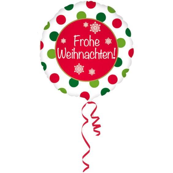 Folien-Rundballon (A) 'Frohe Weihnachten', ca. 43 cm