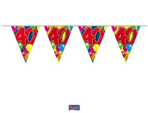 'Ballons - 40' Wimpelkette, bunt, Kunststoff, ca. 10 m