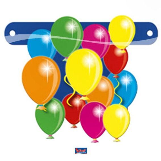 'Balloons / Ballons' Banner-Letter ca. 13,5 x 11 cm, Papierartikel