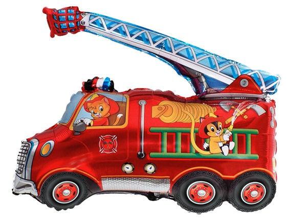 FolienShapeballon (F) 'Fire Truck - Feuerwehr', ca. 43 cm