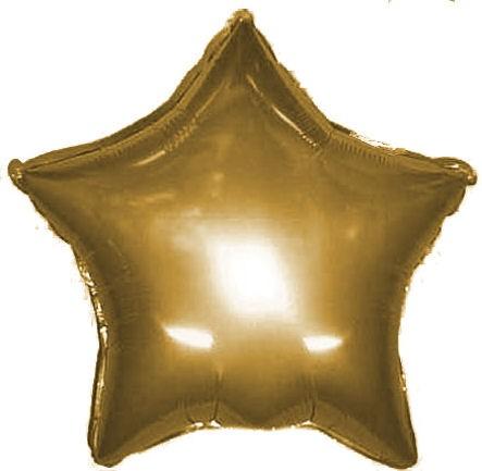 Folien-Sternballon, ca. 45/50 cm Ø, gold, verschiedene Ausführungen