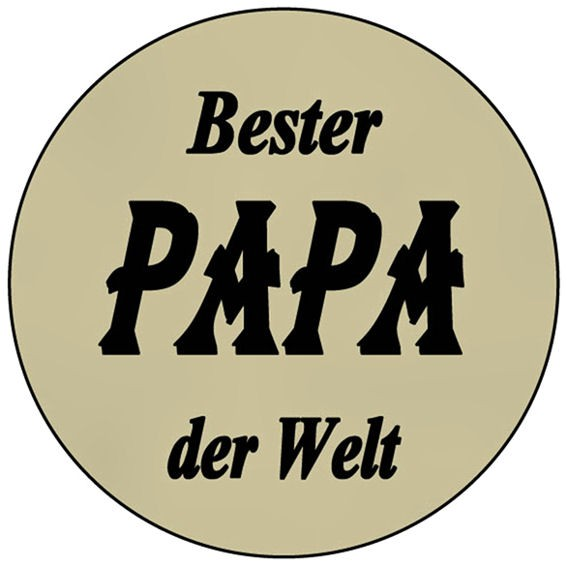 Aufkleber 'Bester PAPA der Welt' transparent, rund, Maße: ca. 5 cm Ø