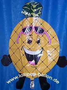 Folienballon 'Fröhliche Ananas', ca. 85 cm Ø, ohne Gasfüllung