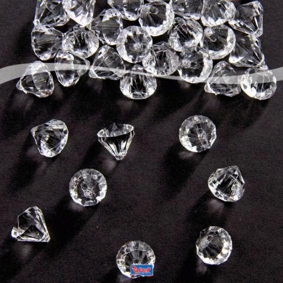 'Tisch Diamanten' ca. 12 x 12 mm, transparent-klar, ca. 28 g-Pack.