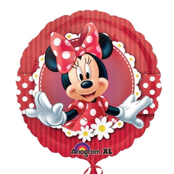 Folien-Rundballon 'Mad About Minnie', ca. 43 cm Ø, verschiedene Ausführungen
