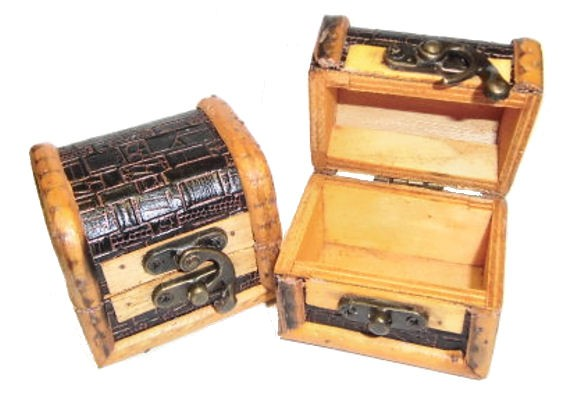 'Schatztruhe' klein, Holz, Maße: ca. 6 x 6 x 7 cm