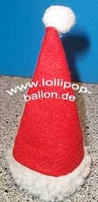 Kleine 'Deko-Weihnachts-Mütze' aus Filz-, + Teddystoff, ca. 11 cm hoch
