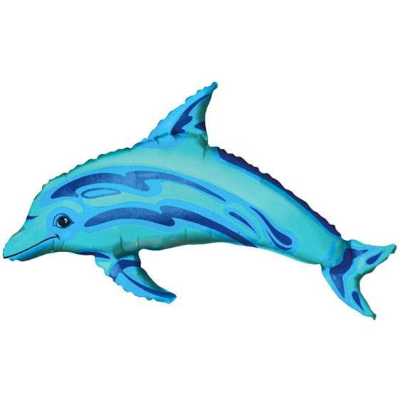 Folienballon-Stecker 'Ocean Blue Dolphin - Delphin'