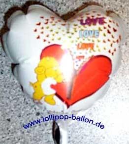 Mini-Folienballon-Stecker 'Herz - Love - Tenderheart Bear'