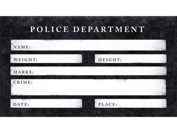 'Photo Poster - Arrest' ca. 18 x 32 cm, Papierartikel