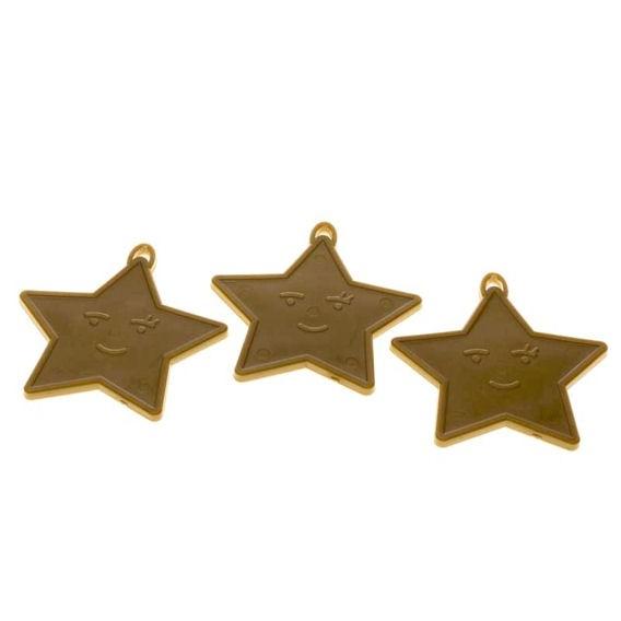 Kleines Ballongewicht 'Stern', ca. 9 gr. schwer, gold