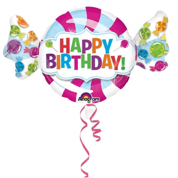 Folienballon-Shape 'Sweet Shop - Happy Birthday', ca. 101 cm