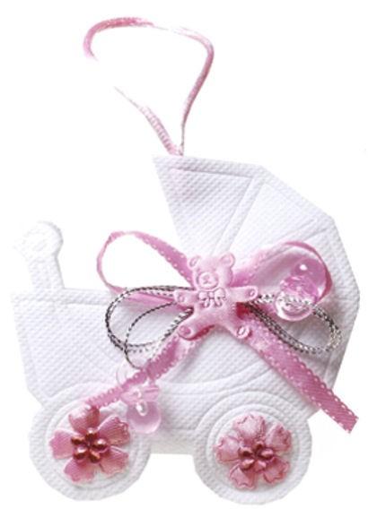 Kleine Tasche 'Kinderwagen', rosa, originelles Geldgeschenk