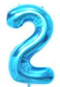 Folien-Zahlenballon (G), blau - XXL - 2, Gas geeignet