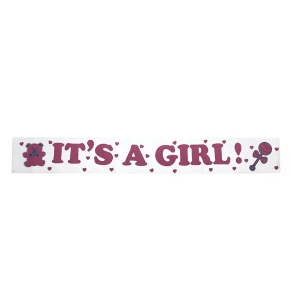 'It's A Girl'-Banner, ca. 270 cm lang