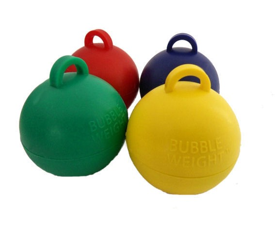 Mittelgroßes Ballongewicht 'Bubble' ca. 30/35 gr. schwer, bunt-sortiert