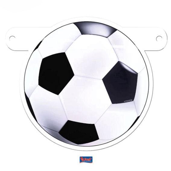 'Soccerball / Fußball' Banner-Letter ca. 14 x 11,5 cm, Papierartikel