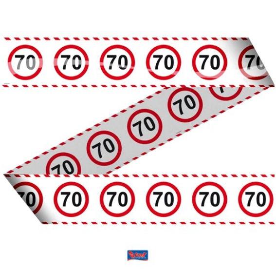 'Verkehrszeichen 70' Absperrband, ca. 7,5 cm x 15 mtr.