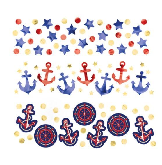 'Anchors Aweight' Flitterbox-Streuartikel, 3-fach Sort., 34 Gramm