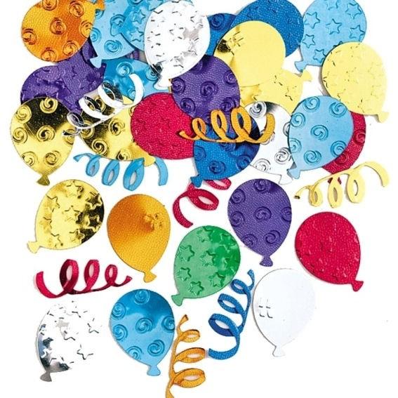 'Partyballoons' Flitterbox-Streuartikel, bunt, ca. 14 gr.