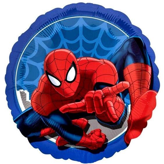 Folien-Rundballon 'Ultimate Spider-Man' blau, ca. 43 cm Ø