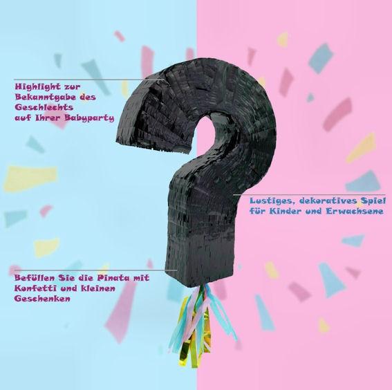Pinata 'Fragezeichen' schwarz, ohne Füllung