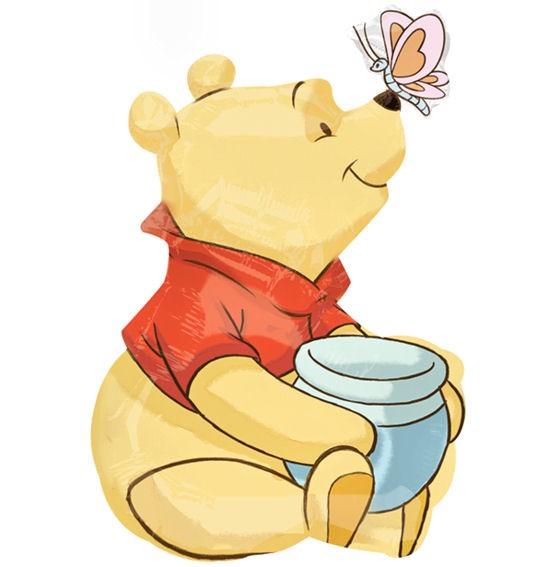 Folienballon-Stecker 'Winnie the Pooh - Honig'