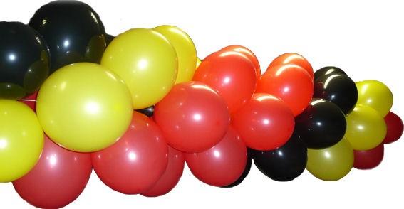 Deko-Set 'Ballongirlande', 1 lfm.-Bausatz nach Ihren Farbwünschen