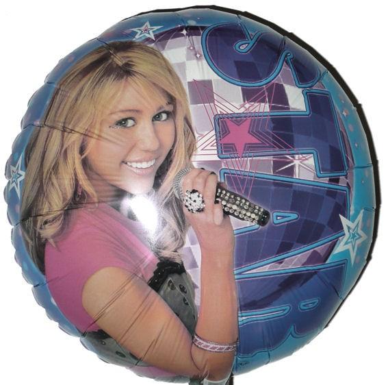 Rundballon 'Miley Cyrus / Hannah Montana - Star', ca. 45 cm Ø, verschiedene Ausf