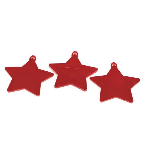 Kleines Ballongewicht 'Stern', ca. 9 gr. schwer, rot