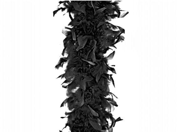 Feder-Boa, schwarz, ca. 180 cm, ca. 45 gr.