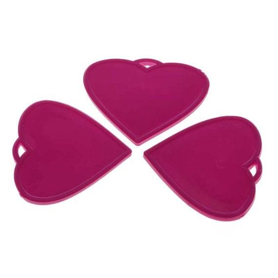 Kleines Ballongewicht 'Herz', ca. 9 gr. schwer, hot pink