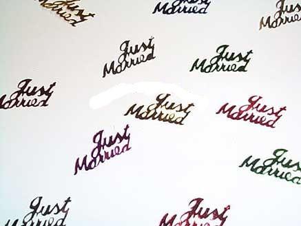 'Just Married' bunt, Flitterbox-Streuartikel, ca. 10 gr.