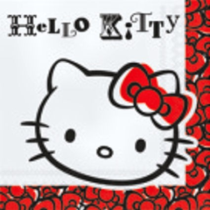 20 Party-Servietten, ca. 33 x 33 cm, 'Hello Kitty Fun'