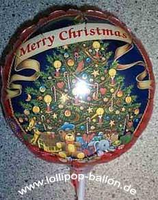 Folienballon-Stecker 'Merry Christmas - Weihnachtsbaum'
