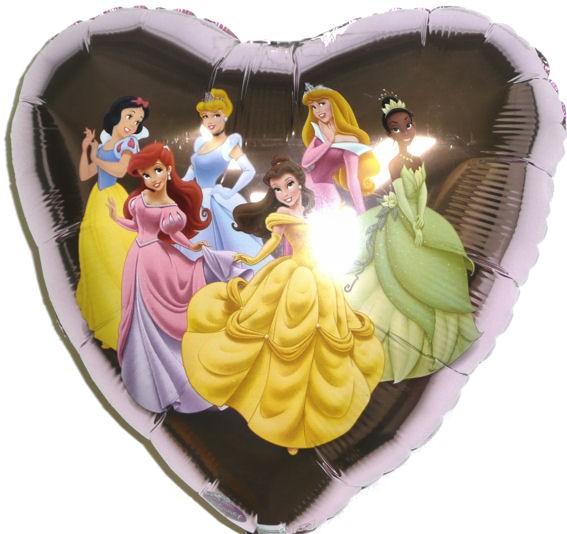 Folien-Herzballon 'Disneys - Princess le belle', ca. 45 cm Ø, verschiedene Ausfü