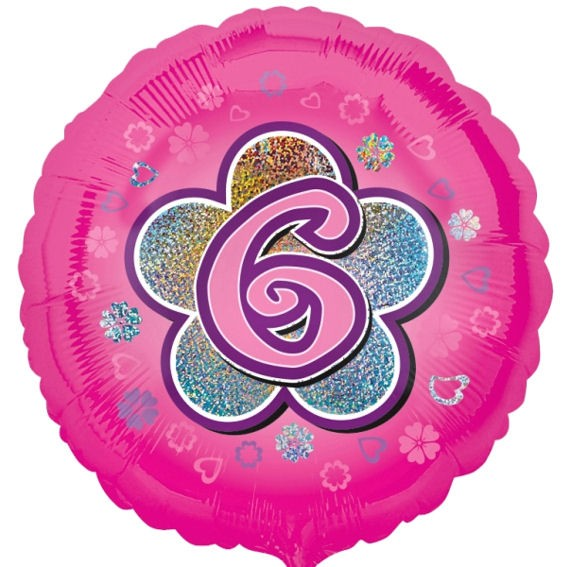 Folien-Rundballon 'Pink Flowers 6', ca. 45 cm Ø, verschiedene Ausführungen