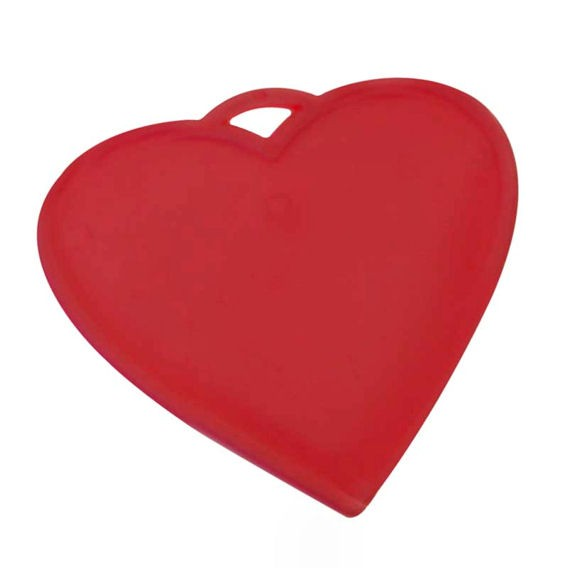 Kleines Ballongewicht 'Herz', ca. 9 gr. schwer, rot