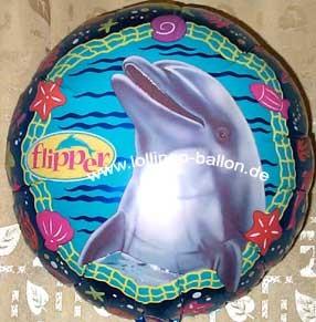 Folien-Rundballon 'Flipper der Delphin', ca. 45 cm Ø, verschiedene Ausführungen