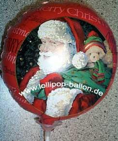 Folienballon-Stecker 'Merry Christmas - Weihnachtsmann'