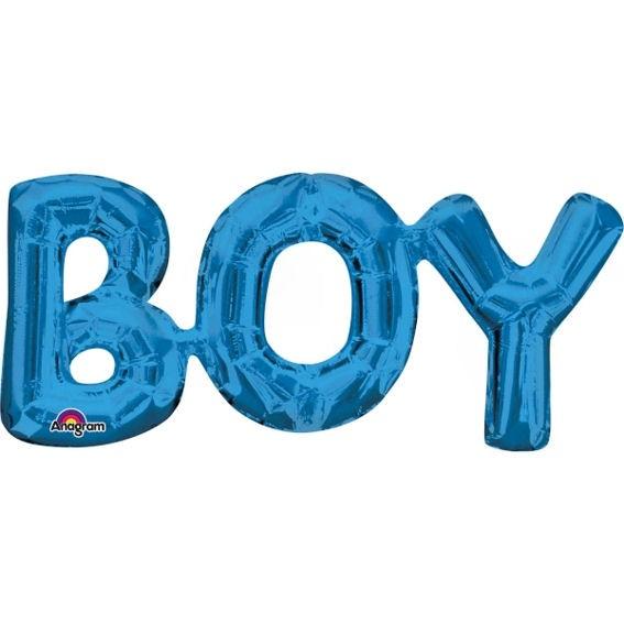 Folien-LUFTballon Schriftzug / Wort 'BOY'
