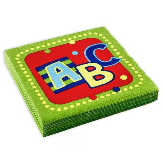 'ABC - Einschulung' Servietten, 3-lagig, 20 Stück-Pack., ca. 33 x 33 cm