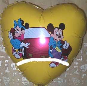Folien-Herzballon 'Minnie & Mickey Mouse', ca. 45 cm Ø, verschiedene Ausführunge