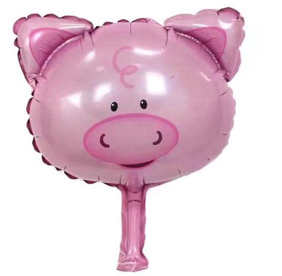 Mini-Folien-LUFTballon 'Pig-Head / Schweinchen-Kopf'
