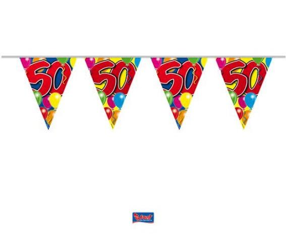 'Ballons - 50' Wimpelkette, bunt, Kunststoff, ca. 10 m