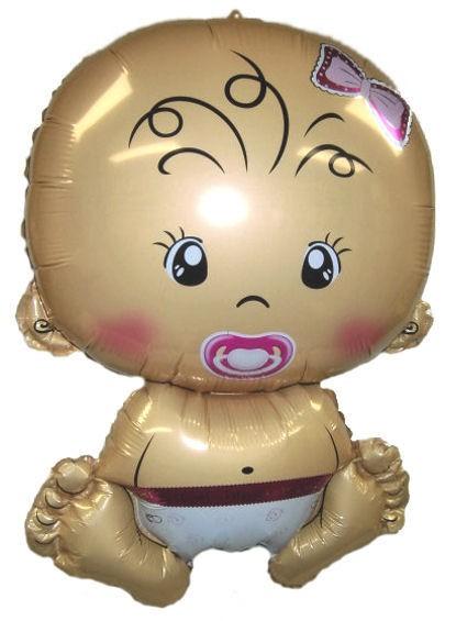 Mini-Folien-LUFTballon 'Baby - The Girl'