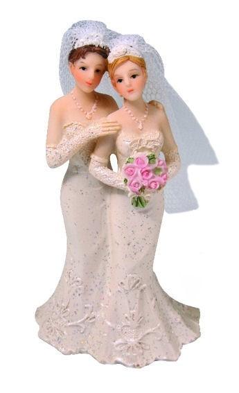 Kuchen-Deko Hochzeitspaar / Brautpaar 'Frauen'
